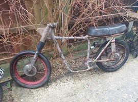 Old bsa c15 rolling frame