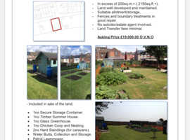 Allotment Land For Sale 200sqm+ - Radcliffe/Ringley - Greater Manchester