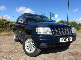 Jeep Grand Cherokee, 2002 (02) Blue Estate, Automatic Diesel, 109,000 miles