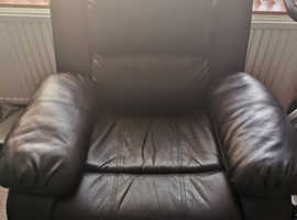 Two black recliners for sale.