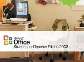 Microsoft Office Student & Teacher Edition 2003 CD for Windows