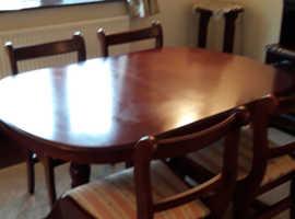 Dark wood dining furniture