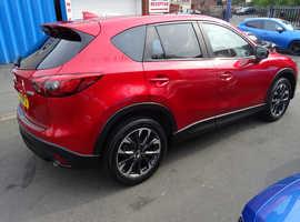 Mazda CX-5, 2016 (16) Red Estate, Manual Diesel, 38,000 miles