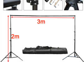 10Ft Adjustable Photography Background Support Stand Backdrop 4 Crossbar Kit