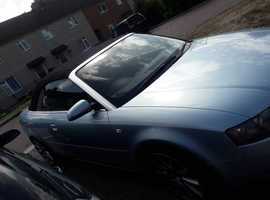 Audi A4, 2005 (55) Blue Convertible, Manual Petrol, 83,984 miles