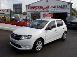 2015/15 Dacia Sandero 1.2 Ambiance finished in Arctic White., 53,984 miles
