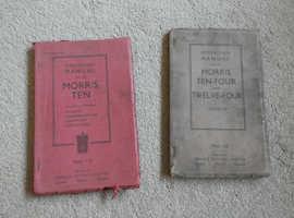 OPERATION MANUAL FOR MORRIS TEN & MORRIS TEN-FOUR & TWELVE -FOUR