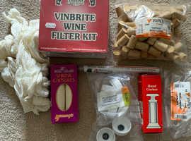 Wine-making equipment, all unused