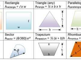 KS3 & GCSE Mathematics Tutor = CF44 area