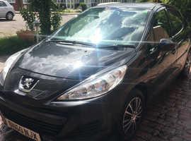 Peugeot 207, 2010 (60) Black Hatchback, Manual 1.4HDI  Diesel £20 tax per year 60mpg
