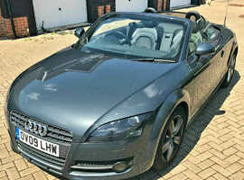 Audi TT, 2009 (09) Grey Convertible, Manual Petrol, 31,000 miles