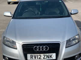 Audi A3, 2012 (12) silver hatchback, Semi auto Diesel, 122,000 miles