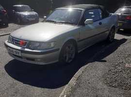 Saab 9-3, 2000 (W) Silver Convertible, Automatic Petrol, 101,274 miles