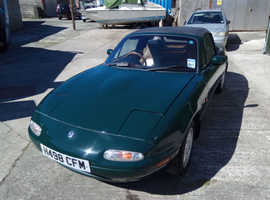 Mazda mx5/EUNOS V-spec 1600, 1991 (51) Green Convertible, Manual Petrol, 177,680 miles
