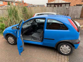 Vauxhall Corsa, 2001 (Y) Blue Hatchback, Manual Petrol, 104,000 miles
