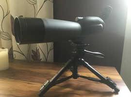 Acuter ST20-60x80A Spotting Scope With Zoom Eyepiece + Velbon Tripod