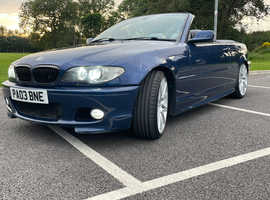 BMW 3 Series, 2003 (03) Blue Convertible, Semi auto Petrol, 90,000 miles