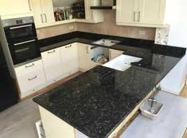 Volga Blue Granite Kitchen Worktops Supplier in Cheap Price