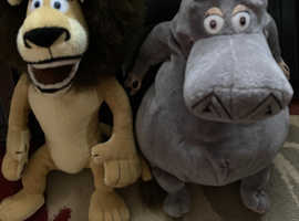 Madagascar soft toys. Collection only.