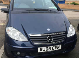 Mercedes A-CLASS, 2006 (06) Blue Coupe, Manual Petrol, 91,894 miles