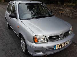 Nissan Micra, 2002 (51) Silver Hatchback, Cvt Petrol, 41,450 miles