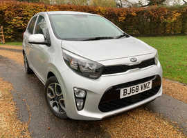 "Kia Picanto, ""3"" 1.25 2018 (68) Silver Hatchback, Manual Petrol,  450 miles only"