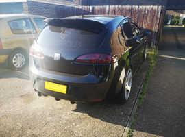 Seat Leon, 2008 (08) Black Hatchback, Manual Diesel, 14,000 miles
