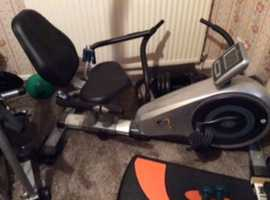 V-fit Recumbent Magnetic exercise bike