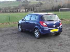 Vauxhall Corsa, 2008 (08) Blue Hatchback, Manual Diesel, 99,000 miles