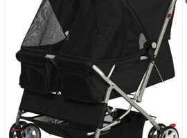 Dog twin stroller