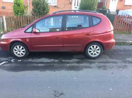 Daewoo Tacuma, 2004 (54) Red MPV, Manual Petrol, 55,564 miles