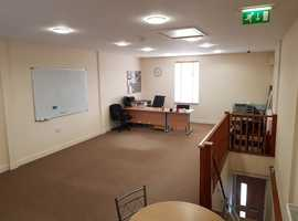 Self Contained Office to Let Rent Old Nottingham Rd Derby 45 sqm Commercial Property Open Plan