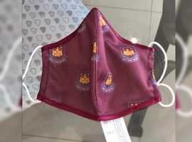 West Ham United F.C Washable Reusable Face Masks
