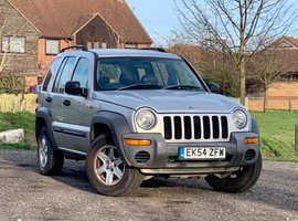 Jeep Cherokee, 2004 (54) Silver Estate, Automatic Diesel, 79,151 miles, NEW 12 MONTH MOT
