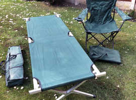 Camp bed & camping chair.