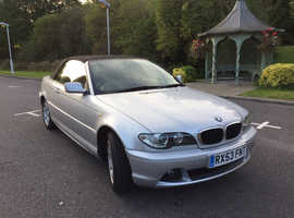 BMW 318 CI, 2003 (53) Silver Convertible, Manual Petrol, 61,000 miles One Owner Full Yr MOT
