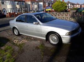 BMW 5 Series, 2001 (Y) Silver Saloon, Automatic Diesel, 158,980 miles
