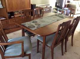 G Plan elm dining room suite.