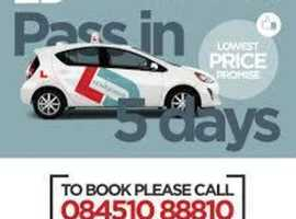 Massive Discount - NOW £50 OFF Intensive Driving Course with Test