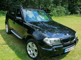BMW X3, 2005 (05) Black Estate, Manual Diesel, 155,000 miles