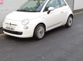 Fiat 500, 2009 (09) White Hatchback, Manual Petrol, 66,000 miles