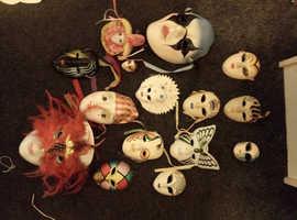 China pottery masks