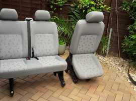 VW Transporter T5 Second Row Seats
