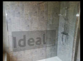 Walk-in shower supplied and fitted