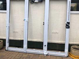 White Aluminium 3 section Bifold door