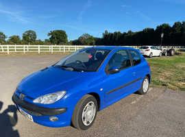 Peugeot 206, 2003 (53) blue hatchback, Manual Petrol, 117,000 miles