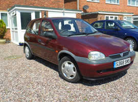 Vauxhall Corsa, 1998 (S) Red Hatchback, Manual Petrol, 90,500 miles