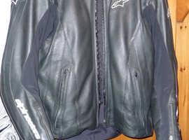 alpinestars monza leather uk 48 euro 58 as new