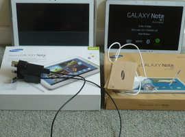 2X Samsung Tablets 10.1 screens.
