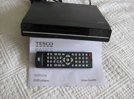 TESCO BASICS DVD PLAYER - USED TWICE- COMPLETE WITH USER GUIDE and  REMOTE